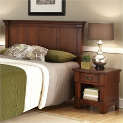 MER-1185 Bowery Hill 3 Piece Panel Headboard Set in Cherry