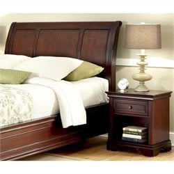 MER-1185 Bowery Hill Sleigh Headboard and Nightstand in Espresso