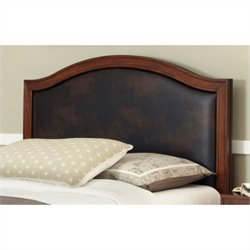 Bowery Hill Full Queen Camelback Panel Headboard with Brown