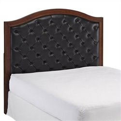 Bowery Hill Queen Tufted Panel Headboard in Cherry