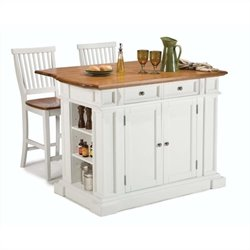 MER-1185 Bowery Hill Kitchen Island and Stools