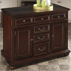 MER-1185 Bowery Hill Kitchen Island in Dark Cherry