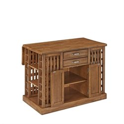MER-1185 Bowery Hill Kitchen Island in Warm Oak