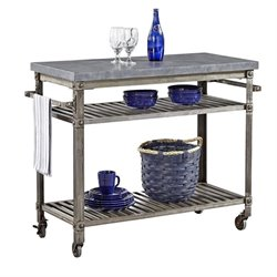 MER-1185 Urban Kitchen Cart in Aged Metal