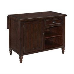 MER-1185 Bowery Hill Kitchen Island in Aged Bourbon