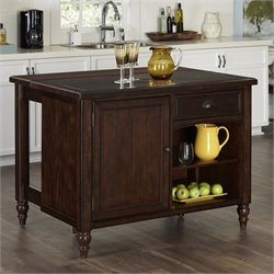 MER-1185 Bowery Hill Kitchen Island in Aged Bourbon 2