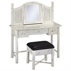 MER-1185 Bowery Hill Vanity and Mirror in White