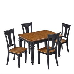 MER-1185 Home Styles Americana Dining Set in Black Oak