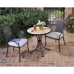 Bowery Hill 3 Piece Patio Bistro Set in Terra Cotta
