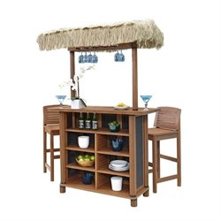 MER-1185 Bali Hai Tiki 3 Piece Patio Pub Set