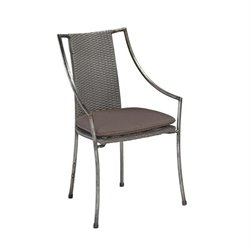 Bowery Hill Patio Dining Chair in Aged Metal