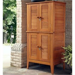 Bowery Hill 4 Door Multipurpose Patio Storage Cabinet in Eucalyptus