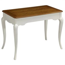 MER-1185 Bowery Hill Student Desk in Oak and Rubbed White