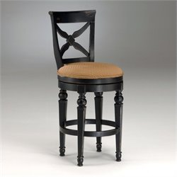 MER-1184 Swivel Bar Stool in Black and Honey
