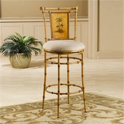 MER-1184 Swivel Bar Stool in Bamboo
