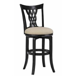 MER-1184 Swivel Bar Stool in Rubbed Black