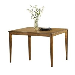 Bowery Hill Extendable Counter Height Gathering Dining Table in Oak