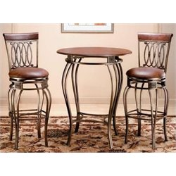 Bowery Hill 3 Piece Pub Set in Old Steel