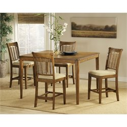 MER-1184 Counter Height Dining Set in Oak