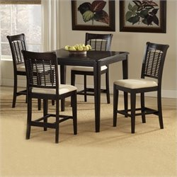 Bowery Hill 5 Piece Counter Height Dining Set in Dark Cherry