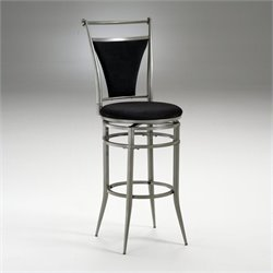 MER-1184 Swivel Bar Stool in Pewter and Black