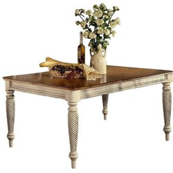 Bowery Hill Extendable Dining Table in Antique White