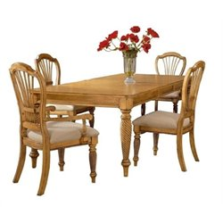 Bowery Hill 5 Piece Dining Set in Pine