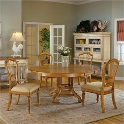 Bowery Hill 5 Piece Round Dining Set in Pine