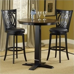 Bowery Hill 5 Piece Pub Set in Black