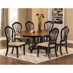 MER-1184 5 Dining Set in Rubbed Black