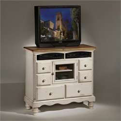 Bowery Hill 6 Drawer Media Chest in Antique White