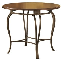 Bowery Hill Round Casual Dining Table in Brown