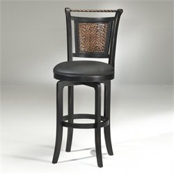 MER-1184 Swivel Bar Stool in Black and Copper