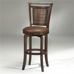 MER-1184 Swivel Bar Stool in Brown Cherry 1