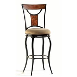 MER-1184 Swivel Bar Stool in Black 4