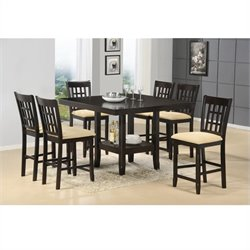 MER-1184 Counter Height Dining Set in Cappuccino