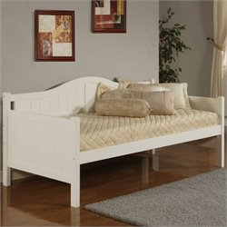 Bowery Hill Twin Wood Daybed in White
