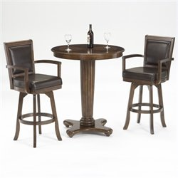 Bowery Hill 3 Piece Pub Set in Rich Cherry