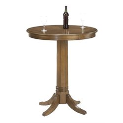 Bowery Hill Round Pub Table in Rich Cherry