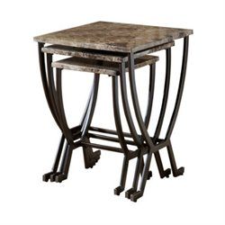 Bowery Hill 3 Piece Nesting Table Set in Matte Espresso