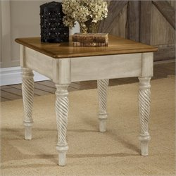 Bowery Hill End Table in Antique White