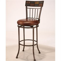 MER-1184 Faux Leather Bar Stool in Coppery Brown