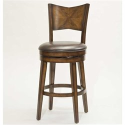 MER-1184 Swivel Bar Stool in Rustic Oak