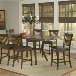 Bowery Hill Extendable Counter Height Dining Table in Chestnut