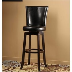 MER-1184 Swivel Bar Stool in Black and Espresso