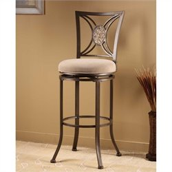 MER-1184 Swivel Bar Stool in Silver Brown