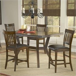 MER-1184 Counter Height Dining Set in Chestnut