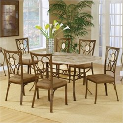 MER-1184 Dining Set in Brown 2