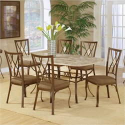 MER-1184 Dining Set in Brown 1