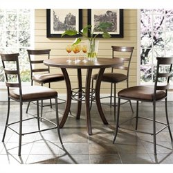 MER-1184 5 Piece Round Counter Height Dining Set 1